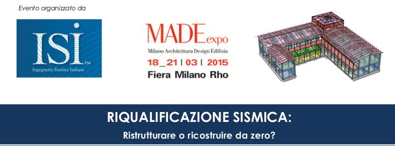 Ingegneria Sismica Italiana Tecno K Giunti Convegno MADE expo 2015