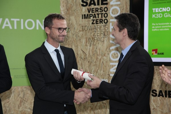 Tecno K Giunti Seismic Joint Covers Premiazione SAIE INNOVATION 2016